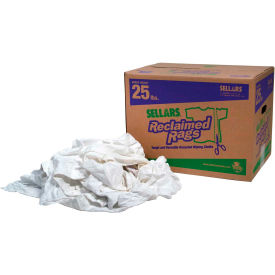 99209 Sellars; Reclaimed Rags - Pure White, 25 Lbs. 99209