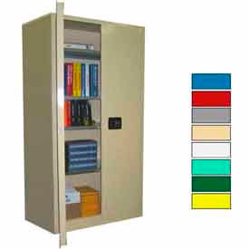 SS272Beige Securall; 36x24x72 Self-Latch Industrial Cabinet Beige