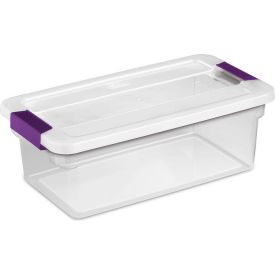 "17511712 Sterilite Clearview Storage Box With Latched Lid 17511712 - 6 Qt. 14-1/8""L x 7-7/8""W x 4-7/8""H"