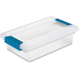 "19618606 Sterilite Small Clip Clear Storage Box With Latched Lid 19618606 - 11""L x 6-5/8""W x 2-3/4""H"
