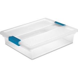 "19638606 Sterilite Large Clip Clear Storage Box With Latched Lid 19638606 - 14""L x 11""W x 3-1/4""H"