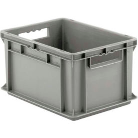 "EF4220.GY1 SSI Schaefer Euro-Fix Solid Container EF4220 - 16"" x 12"" x 9"", Gray"