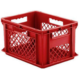 "EF4223.RD1 SSI Schaefer Euro-Fix Mesh Container EF4223 - 16"" x 12"" x 9"", Red"