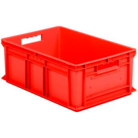 "EF6220.RD1 SSI Schaefer Euro-Fix Solid Container EF6220 - 24"" x 16"" x 8"", Red"