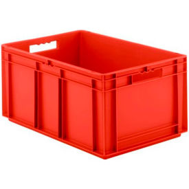 "EF6320.RD1 SSI Schaefer Euro-Fix Solid Container EF6320 - 24"" x 16"" x 13"", Red"