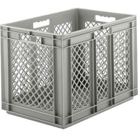 "EF6423.GY1 SSI Schaefer Euro-Fix Mesh Container EF6423 - 24"" x 16"" x 16-5/8"",  Gray"