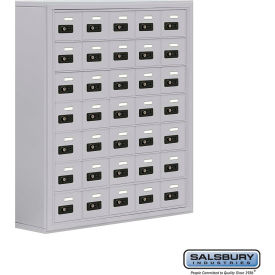 "19078-35ASC Cell Phone Storage Locker, Surface Mounted, 7 Door High, 8""D, Combo Locks, 35 A Doors, Aluminum"