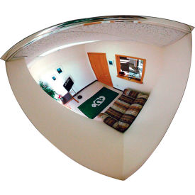 "se-kure™ quarter dome acrylic mirror, indoor, 18"" dia., 90° viewing angle"