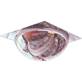 "se-kure™ t-bar full dome acrylic mirror, indoor, 22"" dia. w/2x2 panel,360° viewing angle"