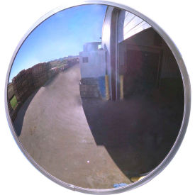 "se-kure™ round acrylic convex mirror, outdoor, 18"" dia., 160° viewing angle"