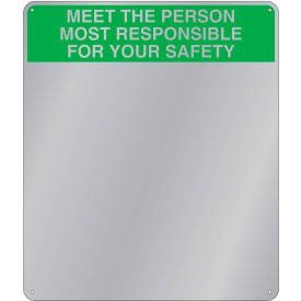 "se-kure™ acrylic safety message mirror, indoor, 29""x16"", ""meet the person"""