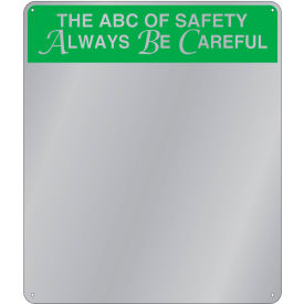 "se-kure™ acrylic safety message mirror, indoor, 29""x16"", ""the abc of safety"""