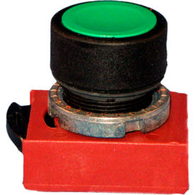 22 mm Push Button Operator, black bezel, 4 caps; red, green, black, yellow, flush.