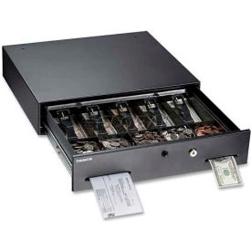 "225106001  MMF SteelMaster Touch-Button Cash Drawer 225106001, 17.8""W x 15.8""H x 3.8""H, Black, Gray"