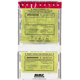 2362500N20 MMF FRAUDSTOPPER Tamper-Evident 2-Pocket Deposit Bag 2362500, 9-1/2x17-1/2 Clear, Price per 100 Bags