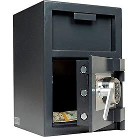 "DH074E SentrySafe Front Loading Depository Safe DH-074E - 14""W x 15-5/8""D x 20""H, Black"