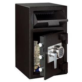 "DH109E SentrySafe Front Loading Depository Safe DH-109E - 14""W x 15-5/8""D x 24""H, Black"