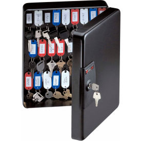 "KB50 SentrySafe 50 Key Capacity KB-50 Key Box, Key Lock, 9-7/16""W x 3-15/16""D x 11-13/16""H, Black"