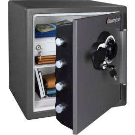 "SFW123DEBGRY SentrySafe Fire-Safe; SFW123DEB Combination Lock, 16-5/16""W x 19-5/16""D x 17-13/16""H, Gray"