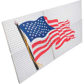 pegboard panels - american flag 16 x 32 (4 pc)
