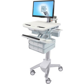 ergotron® sv43-1260-0 styleview® medical cart with lcd arm, 6 drawers Ergotron® SV43-1260-0 StyleView® Medical Cart with LCD Arm, 6 Drawers