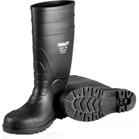 31151.08 Tingley; 31151 Economy PVC Knee Boots, Size 8, Black, Plain Toe, Cleated Outsole