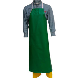 "A41008.MD Tingley; A41008 SafetyFlex; PVC/Polyester Apron, 38"" x 48"", Green, Medium"