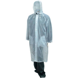 "C61210.LG Tingley; C61210 Tuff-Enuff; Coat, Clear, 48"", Detachable Hood, Large"