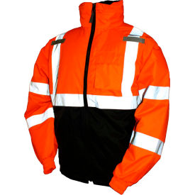 J26119.XL Tingley; J26119 Bomber II Hooded Jacket, Fluorescent Orange/Red/Black, XL