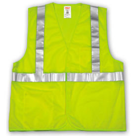 V70622.2X-3X Tingley; V70622 Job Sight; Class 2 Vest, Fluorescent Lime, Polyester Mesh, 2XL/3XL