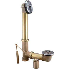 "Keeney® 606RB, Bath Drain Triplever Rough Brass, 20 Gauge, 1-1/2"", Polished Chrome"