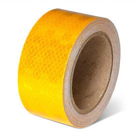 "incom school bus conspicuity reflective tape, 2""w x 150l, yellow, roll"