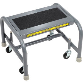 WLSR001163-WM 1 Step Mobile Steel Step Stand w/ Solid Anti-Slip Top Step