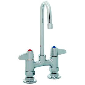 "5F-4DLX00 Equip by T&S 5F-4DLX00 4"" Deck Mount Mixing Faucet Swivel, Base Only, Less Spout"