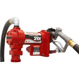 "FR4210G Fill-Rite FR4210G, DC Fuel Transfer Pump w/20"" Steel Telescoping Suction Pipe, 20 GPM, 2"" Bung Mount"