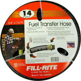 "FRH07514 Fill-Rite FRH07514, 3/4"" x 14 Retail Hose Designed for Use with All Electric Pumps"