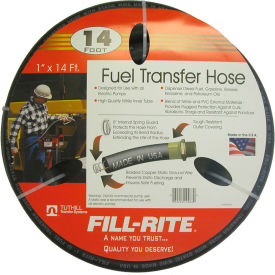 "FRH10014 Fill-Rite FRH10014, 1"" x 14 Retail Hose Designed for Use with All Electric Pumps"