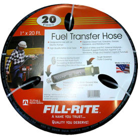 "FRH10020 Fill-Rite FRH10020, 1"" x 20 Retail Hose Designed for Use with All Electric Pumps"