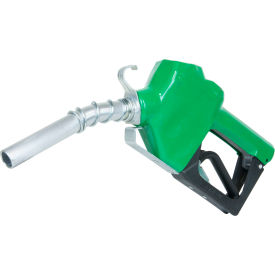 "N075DAU10 Fill-Rite N075DAU10, 3/4"" Auto Nozzle with Hook, Diesel, Green, 2.5-14.5 GPM, End of Delivery Hose"