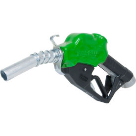 "N100DAU12G Fill-Rite N100DAU12G, 1"" Automatic Nozzle with Hook, Green Body, 5-25 GPM, End of Delivery Hose"