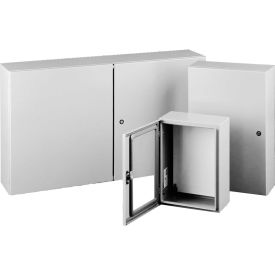 "CSD12126. Hoffman CSD12126 Wall-Mounted Type 4/12 Enclosure, 12"" x 12"" x 6"", Gray"