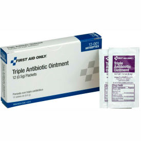 12-001 First Aid Only, Triple Antibiotic Ointment, 12/Box, 12-001