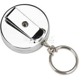 securit® pmc04990 pull key reel wearable key organizer, stainless steel