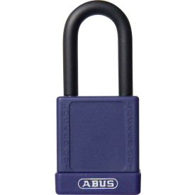 abus 74/40 keyed alike lockout padlock, 1-1/2-inch non-conductive shackle, purple, 06761
