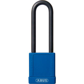 abus 74hb/40-75 master keyed lockout padlock, non-conductive 3-inch shackle, blue, 06782