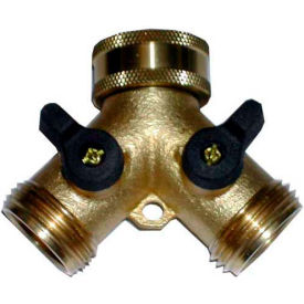 wal-rich® 4603003 siamese connector brass w/shutoff Wal-Rich® 4603003 Siamese Connector Brass W/Shutoff