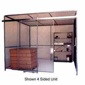 82221 Husky Rack & Wire Preconfigured Room 2 Sided 10 W x 10 D x 8 H w/ 5 W Slide Door w/Ceiling