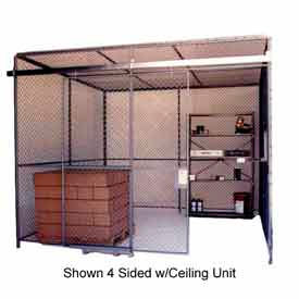 83460 Husky Rack & Wire Preconfigured Room 3 Sided 30 W x 20 D x 8 H w/ 5 W Slide Door