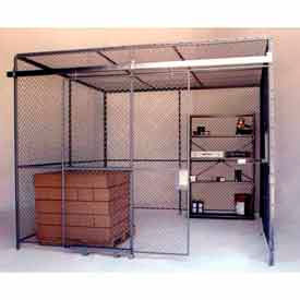 84221 Husky Rack & Wire Preconfigured Room 4 Sided 10 W x 10 D x 8 H w/ 5 W Slide Door w/Ceiling