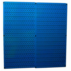 "30-P-3232 BU Wall Control Pegboard Pack- 2 Panels, Blue Metal, 32"" X 32"" X 3/4"""